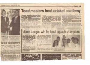 Florida Helps Cricket Academy 1999