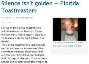 Silence isnt Golden
